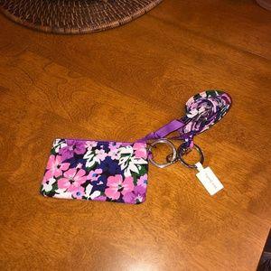 Vera Bradley Lanyard Zip Id Case Floral NWT